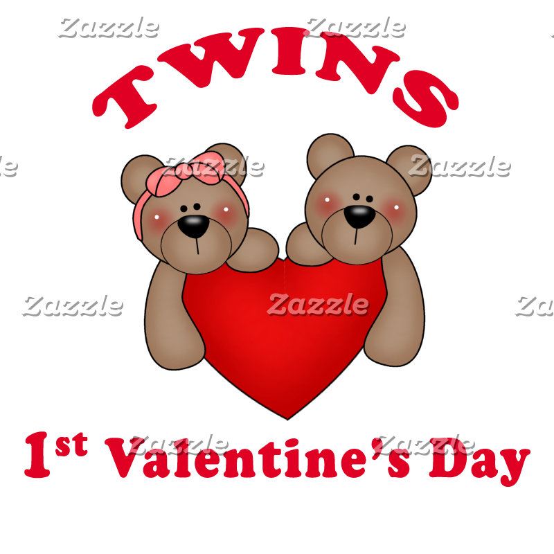 Twins 1st Valentines Gifts and Clothes
