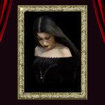Goth Girl_brush strokes_angled strokes_golden fram