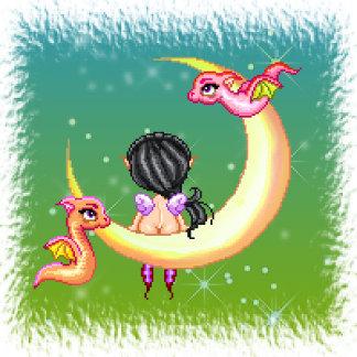Dragon Faery Moon