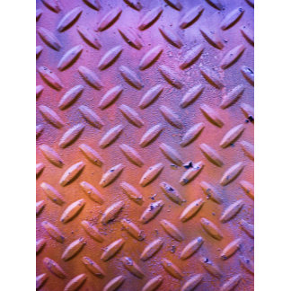 Diamond Plate Steel distressed Grunge orange