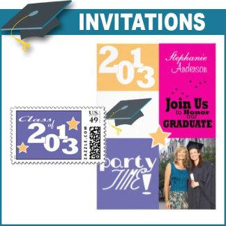 Graduation Invitations with Matching Postage