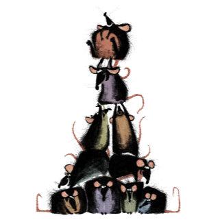 Ratatouille rat pyramid
