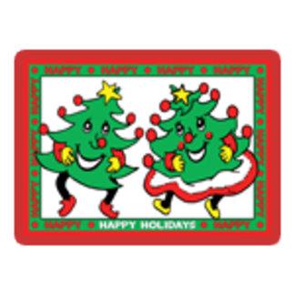 Dancing Cartoon Christmas Trees