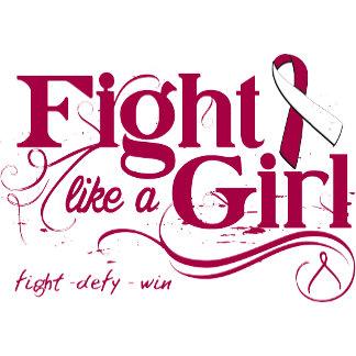 Head Neck Cancer Fight Like A Girl Elegant
