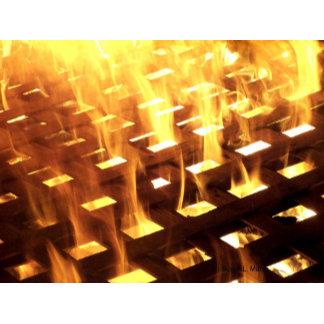 Flame fire through lattice photo design image