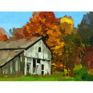 Colorful Autumn Rural Barn
