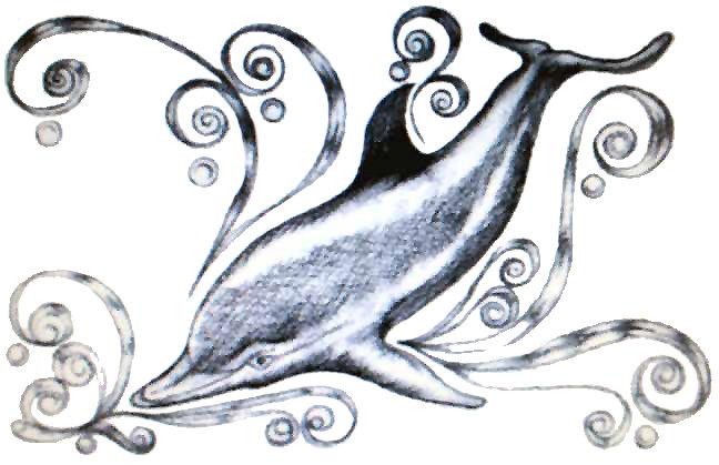 Charcoal Dolphin II
