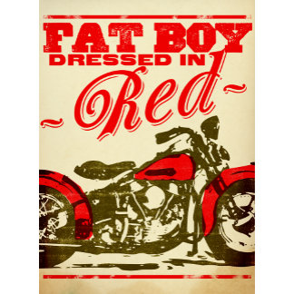 """Fat Boy Dressed in Red Poster Print"""