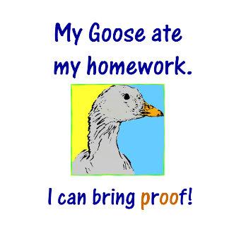 My goose ate my homework