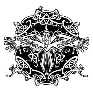 Celtic Raven Knotwork Design