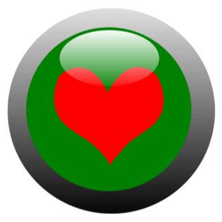 Poker Button - Heart
