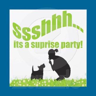 SUPRISE PARTY INVITATIONS