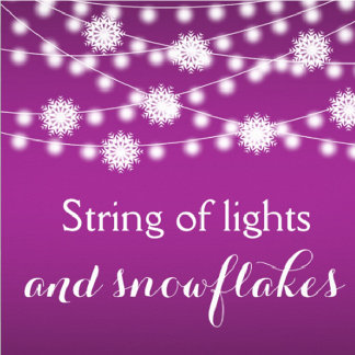 String of lights and snowflakes