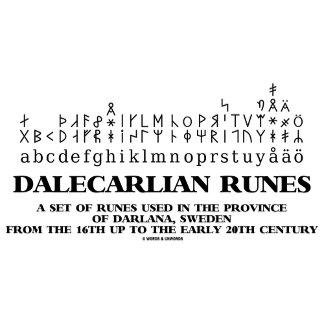 Dalecarlian Runes Set Of Runes In Darlana Sweden