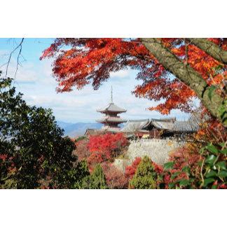 Japan, Kyoto. Kiyomizu temple in Autumn color