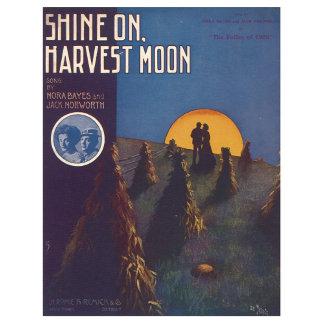 Shine On Harvest Moon - Vintage Song Sheet Art