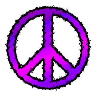 Peace Sign Purple Zig Zag -