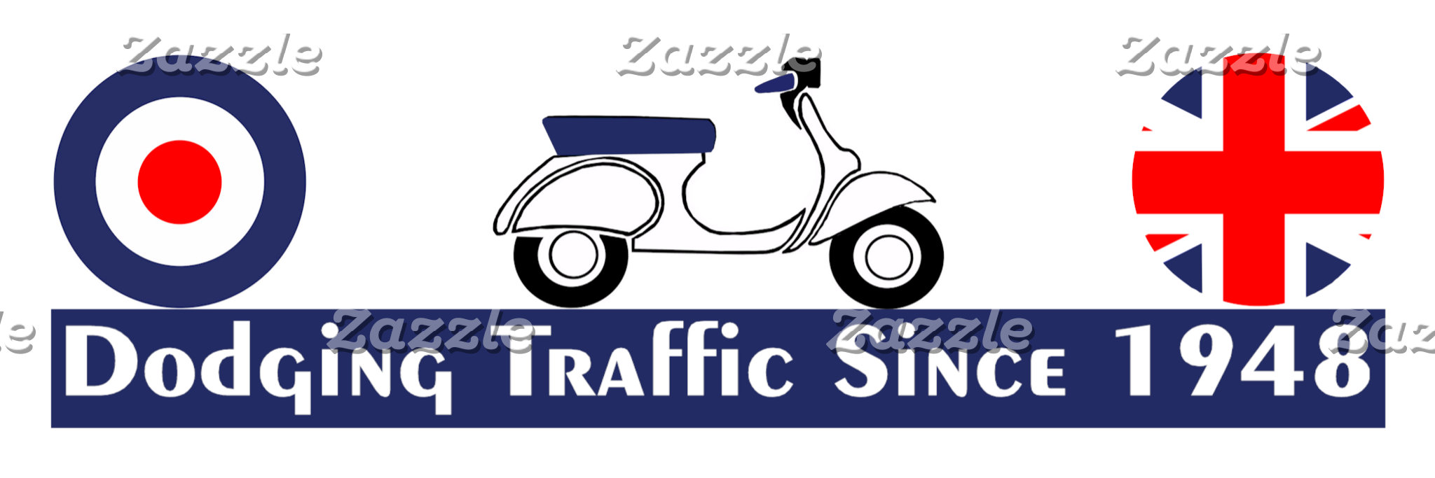 Vintage Scooter - Dodging Traffic Since 1948