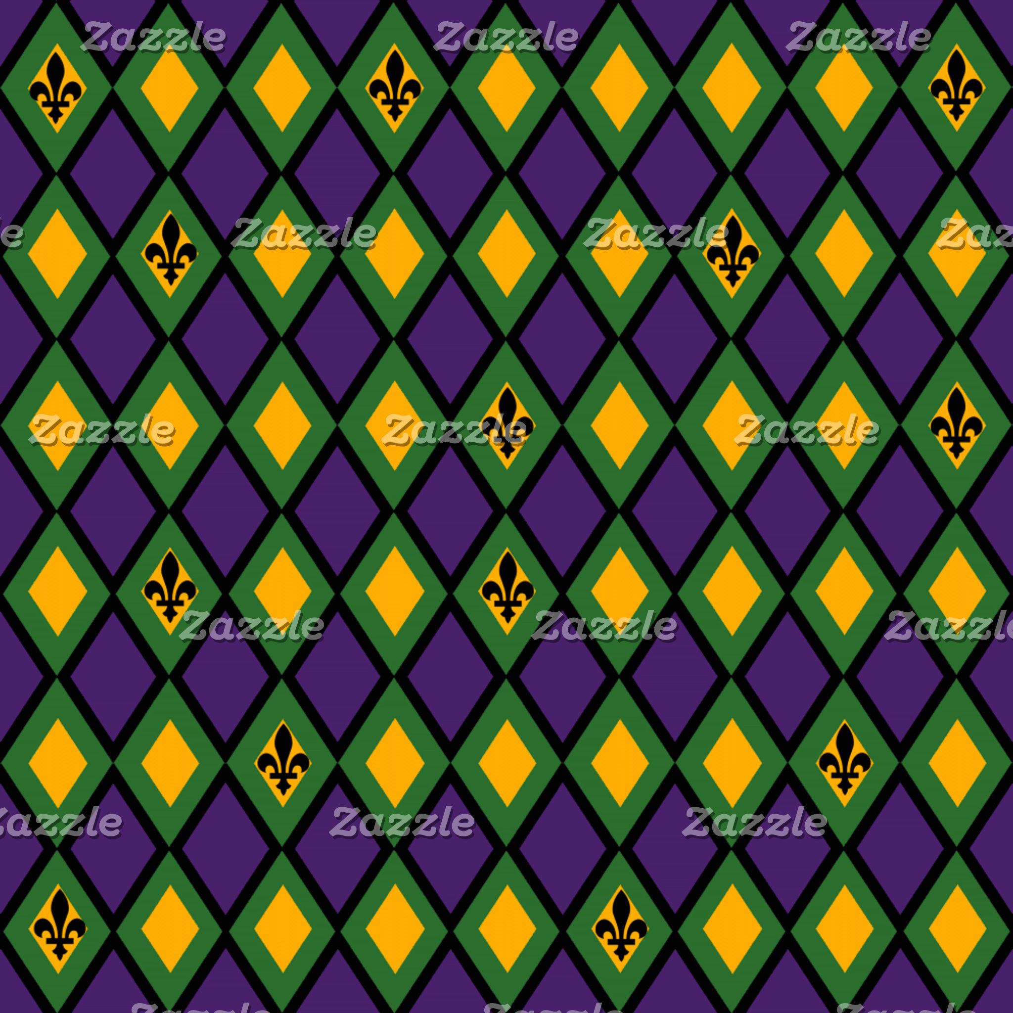 Mardi Gras Diamond Pattern