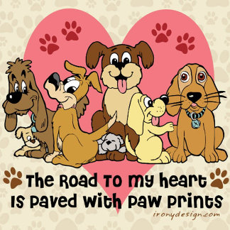 The Road To My Heart Dog Paw Prints Gifts