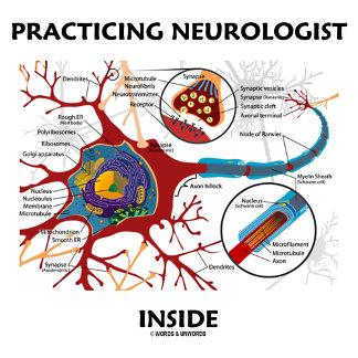 Practicing Neurologist Inside Neuron Synapse