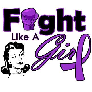 Epilepsy Fight Like A Girl - Retro Girl