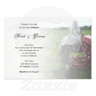 Bride on Farm Tractor Wedding