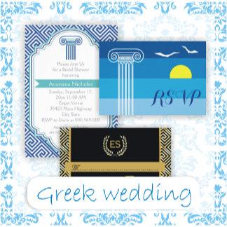 Greek style wedding