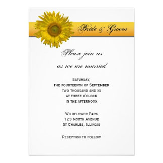 Sunflower Stripe Wedding