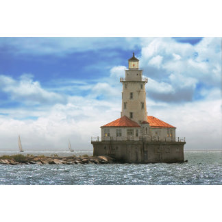 City - Chicago IL - Chicago harbor lighthouse