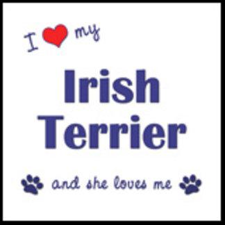 I Love My Irish Terrier (Female Dog)