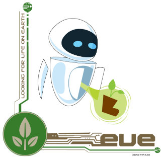 Wall*E with Eve the plant
