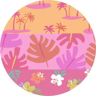 luau palms & flowers