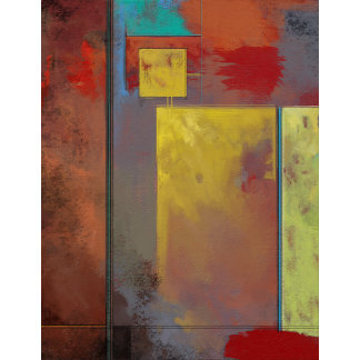 Yellow Squares No. 2 Abstract Painting