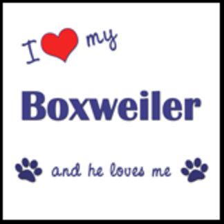 I Love My Boxweiler (Male Dog)