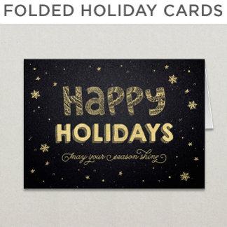 Folded Holiday Cards