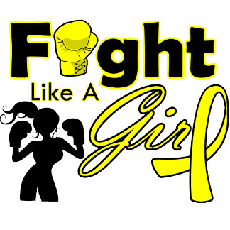 Bladder Cancer Fight Like A Girl Silhouette
