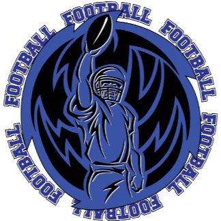 Football Tribal Dark Blue Logo