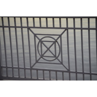 gate abstract pattern white rails neat background