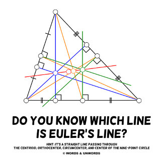 Do You Know Which Line Is Euler's Line (Geometry)