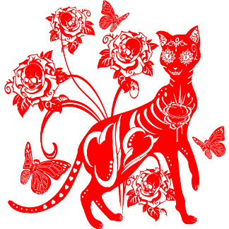 Day Of The Dead Cat Design