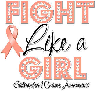 Fight Like a Girl Dazzling - Endometrial Cancer
