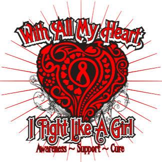 Blood Cancer Heart I Fight Like A Girl