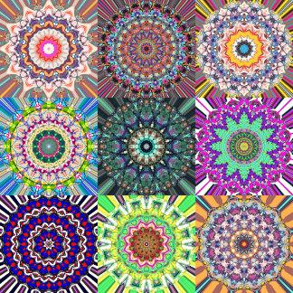 Abstract Mandala Collage