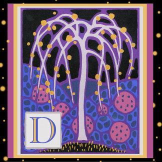 Art Deco Letter D