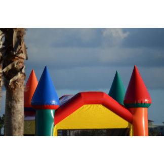 Colorful castle against blue sky