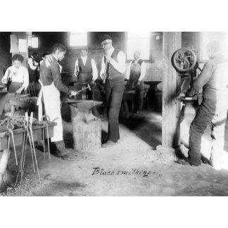 African American Blacksmithing Students