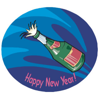 Happy New Year Champagne Pop
