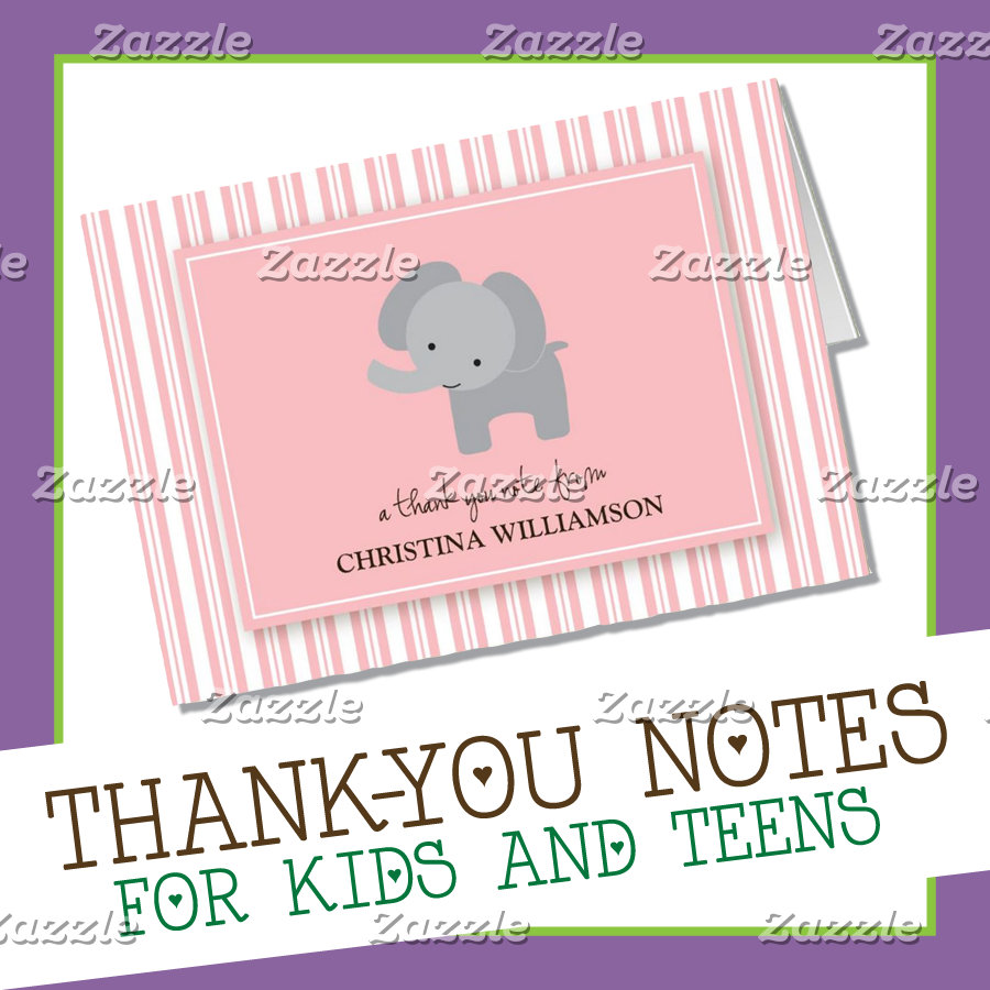 {Kids Thank-You Notes}