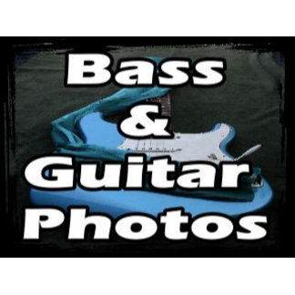Bass, acoustic, and electric guitar photos & image